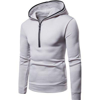 New Men's Casual Hooded Pullover Sweater