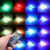 Car Signal Light T10 RGB W5w 12V Auto Interior Light Led Lamps With Remote 1 Set - MULTI