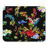 Non Slip Rubber Black Flower Gaming Soft Mouse Pad - MULTI
