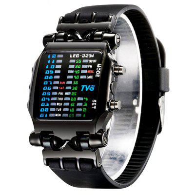 TVG New Design LED Binary Large Dial Creative Digital Sport Watch