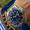 XSVO New Design Luxury Creative Gears Business Stainless Steel Dress Watch - MULTI-A