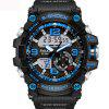 Fashion Mens New Design Dual Display Scuba Diver Sport Wrist Watch - MULTI-A