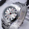 Fashion Luxury New Design Elegant Stainless Steel Quartz Dress Watch - WHITE