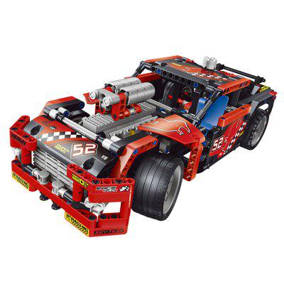 608pcs Race Truck Car 2 In 1 transformierbaren Modellbaukasten Sets DIY Spielzeug