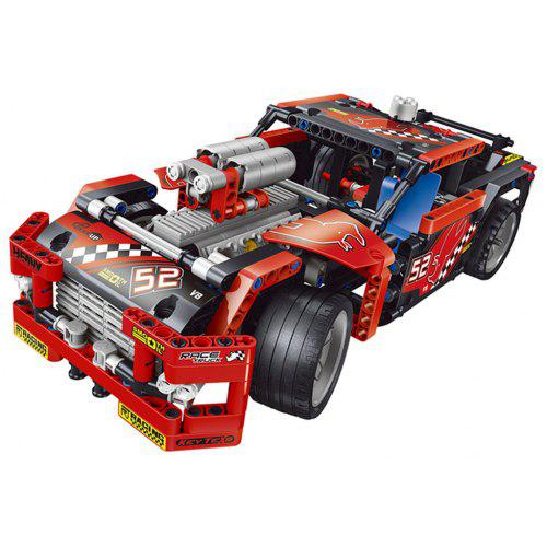 608pcs Race Truck Car 2 In 1 Transformable Model Building Block Sets DIY Toy