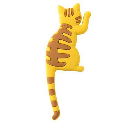 Cute 3D Fun Cat Refrigerator Magnets with Tail Hook