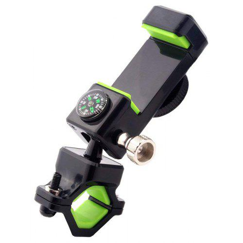 360° Bike Bicycle Motorcycle Cell Phone MTB Mount Holder With Compass LED Light