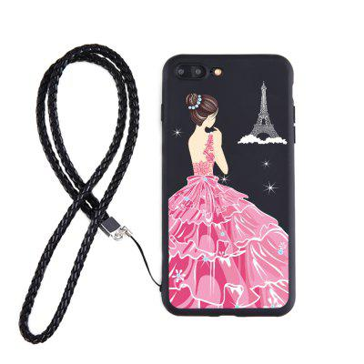 Sukienka Girl Back Candy Black Etui na iPhone 7 Plus Leather Hang Rope