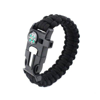 Survival Bracelet Emergency Emergency con Fire Starter Compass Whistle