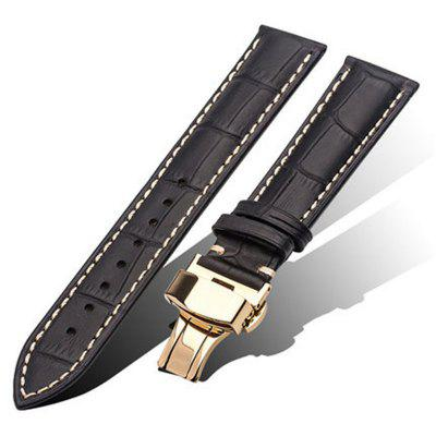 Men's Genuine Leather Watch Strap Band Twister with Buckle Spring Bars