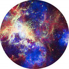 Round Anti Slip Gaming Shining Outer Space Star Rubber Mouse Pad
