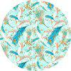 Round Anti Slip Gaming  Colorful Feather Rubber Mouse Pad - MULTI