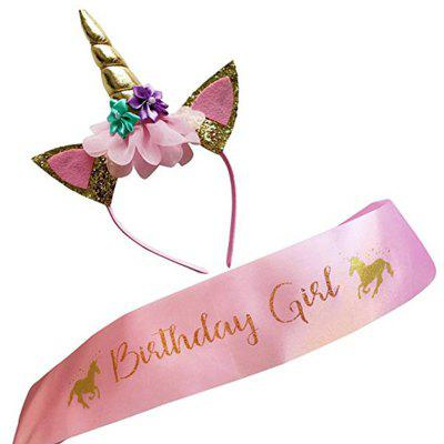 Little Pony Headband Birthday Girl Rose Gold Etiquette Shoulder Strap