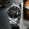 NIBOSI 2039 Scratch Design Luminous Waterproof Business Quartz Watch - MULTI-H