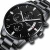 NIBOSI 2039 Scratch Design Luminous Waterproof Business Quartz Watch - MULTI-I