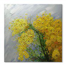 STYLEDECOR Modern Hand Painted Abstract The Chrysanthemum Oil Painting on Canvas