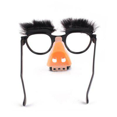 Stylish Lovely Funny Foolish Nerd Halloween Black Old Man Glasses