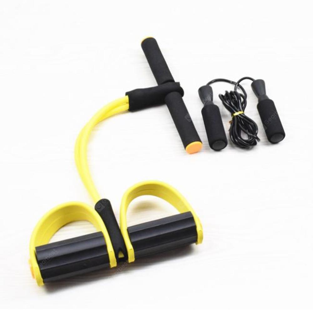 Suit Slimming Yoga Rally Jumping Rope Combination Set - YELLOW