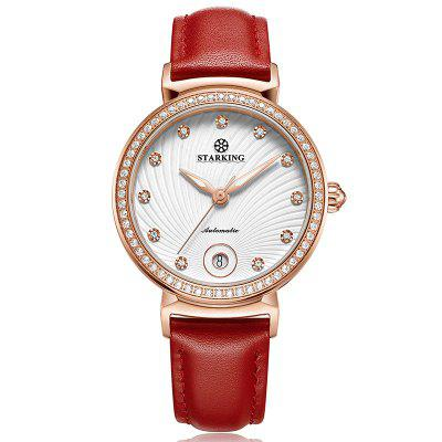 STARKING AL0252 Auto Date Luxury Mechanical Watch Women Retro Vintage Wristwatch