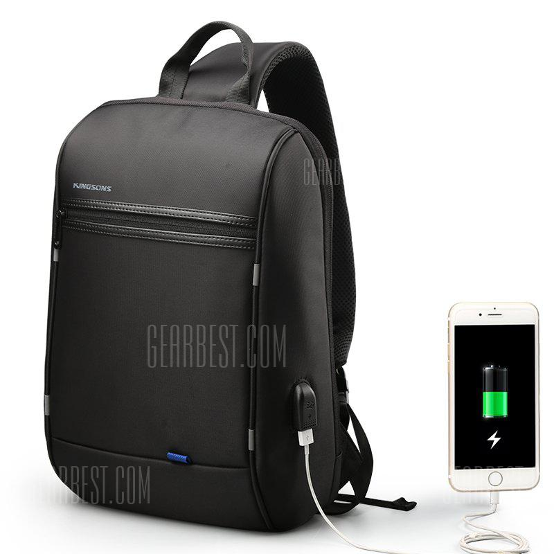 Kingsons Crossbody Bags for Men Messenger Chest Casual Anti-theft USB Charging