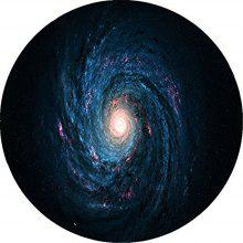 Round Anti Slip Gaming Black Hole Rubber Mouse Pad