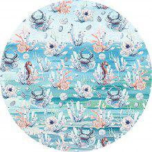 Round Anti Slip Gaming Ocean Scene Rubber Mouse Pad