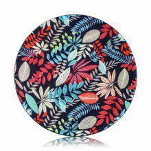 Round Anti Slip Gaming Flower Pattern Rubber Mouse Pad