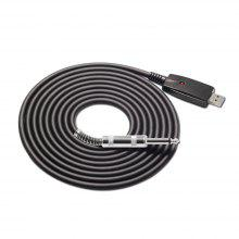 10 Feet USB Interface Male To 6.35MM Electric Guitar Converter Cable 3METERS