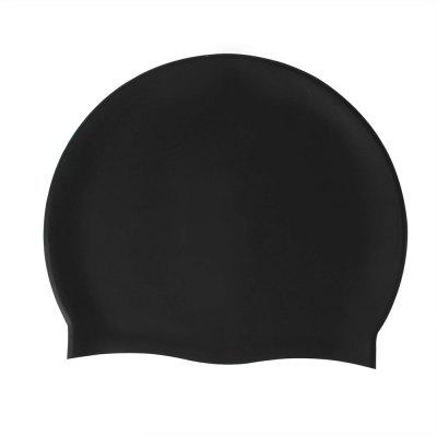 Solid Silicone Swim Cap Extra Elastic Fits Average Head Long Hair for Men Women