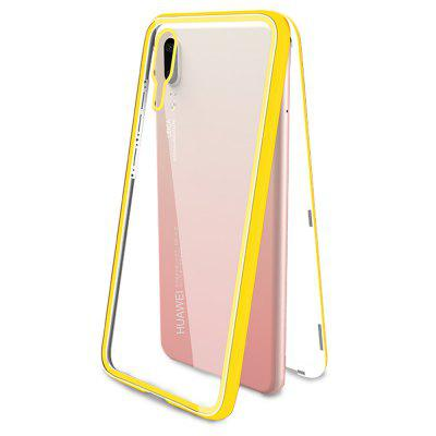 Magnetic Case Tempered Glass+Built-In Magnet Case for Huawei P20 Metal Cover