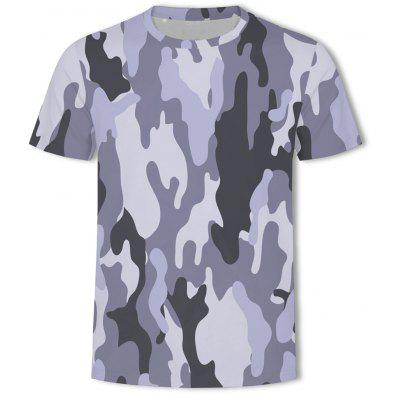 Camouflage 3D Printing Large Size Men's T-Shirt