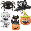 YEDUO Halloween Pumpkin Ghost Balloons Decorations Foil Toys Party Supplies - MULTI-B