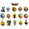 YEDUO Halloween Pumpkin Ghost Balloons Decorations Foil Toys Party Supplies - MULTI-D