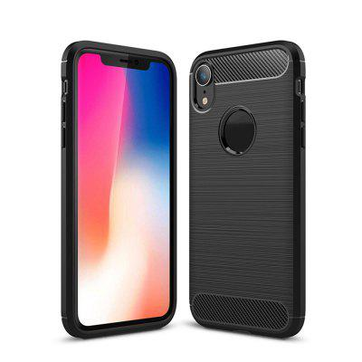 Shockproof Back Cover Carbon Fiber Case for iPhone XR