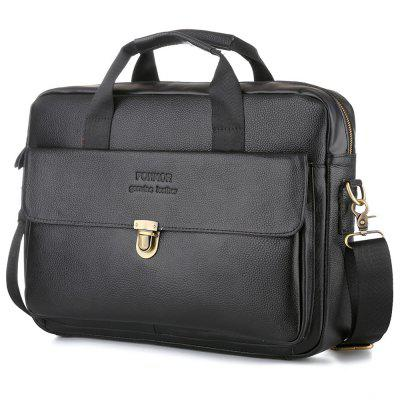 Oli Wax Genuine Leather Laptop Bag For Men S Business Briefcase