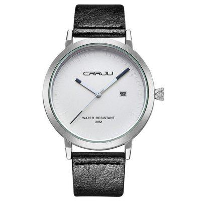 CRRJU 2104 Classic Men Quartz Watch Simple Waterproof Sport Wristwatches