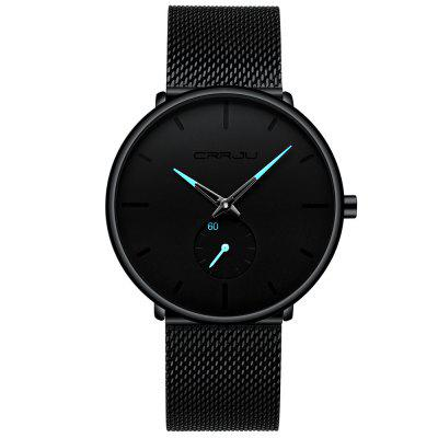 CRRJU 2150 Fashion Simple Men Waterproof Casual Quartz Watch