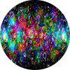 Round Anti Slip Gaming Colorful Bubble Rubber Mouse Pad - MULTI