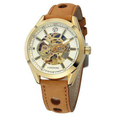 Forsining Men Leisure Sport Belt Automatic Mechanical Wrist Watch