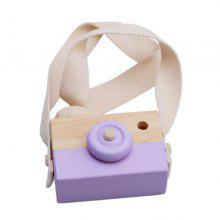 Wooden Toy Camera Natural Wood Photo Pendant Adorn Child Gift