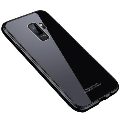 For Samsung Galaxy S9 Plus Bumper Case Metal Frame Tempered Glass Back Cover