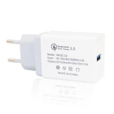 Minismile 18W Universal Travel QC3.0 Quick Charge Power Adapter Wall Charger EU Plug