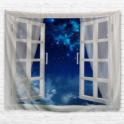 Blue Sky Over the Window 3D Printing Home Wall Hanging Tapestry for Decoration