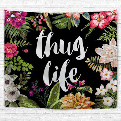Flower Letters 3D Printing Home Wall Hanging Tapestry for Decoration