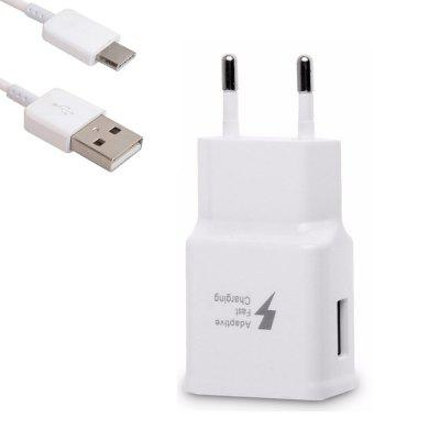 Quick Fast Travel Charger Wall Adapter + USB Type-C Cable for Samsung S9 / S8