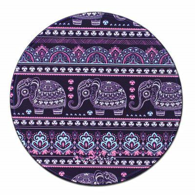 Non Slip Rubber Gaming Purple Elephant Comfortable Mouse Pad