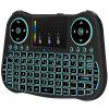 2.4G Full-Keyboard Remote  With Backlight And Touch Pad Controls Mouse - BLACK