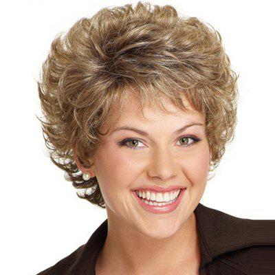 Tilted Frisette Small Curl Short Wig