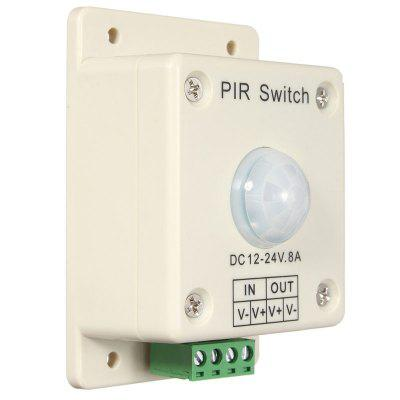 DC12V~24V 8A Human Body Induction PIR Switch Controller With Auto Motion Sensor