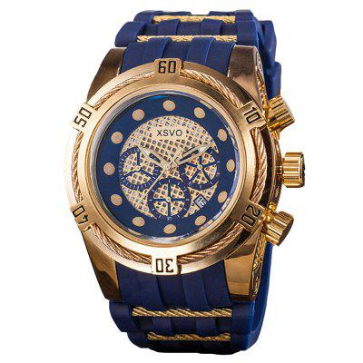 XSVO Men Luxury Fashion Large Dial Cool Military Wrist Watch
